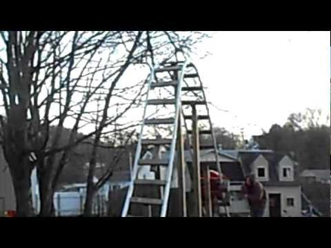 Back yard homemade roller coaster