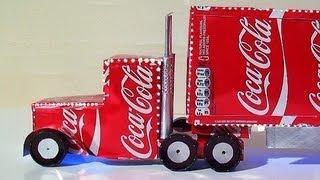 أصنع لطفلك شاحنة من علبة كوكا كولا