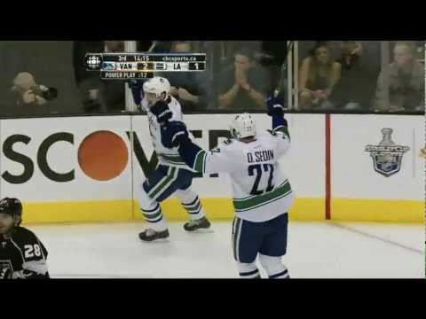 Canucks at Kings - Henrik Sedin 3-1 Goal - R1G4 2012 Playoffs - 04.18.12 - HD