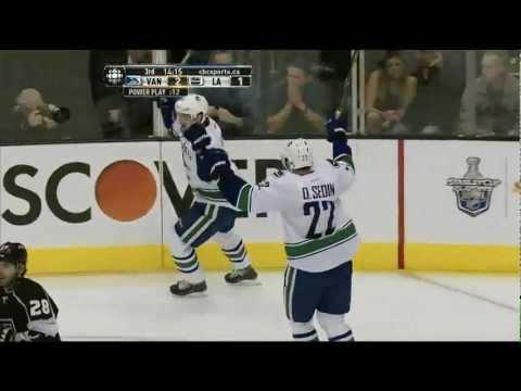 Canucks at Kings - Henrik Sedin 3-1 Goal - R1G4 2012 Playoffs - 04.18.12 - HD