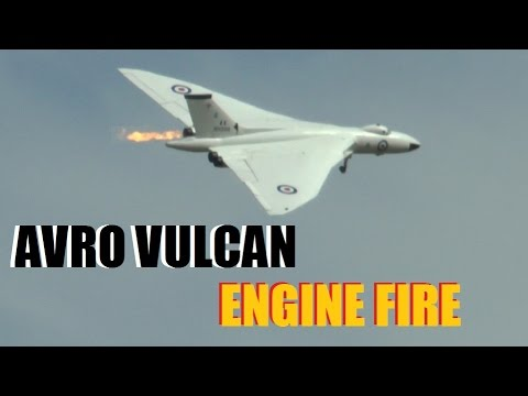 GIANT SCALE RC JET (ENGINE FIRE *SLOW MO*): AVRO VULCAN
