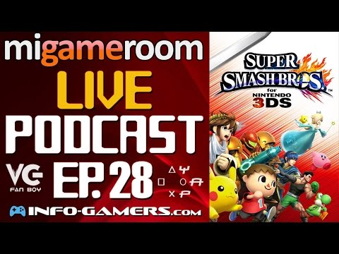 Analizando Super Smash Bros. 3DS - MG Live Podcast. Ep. 28