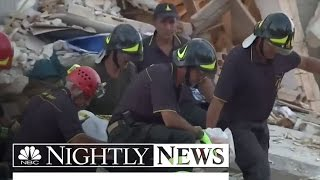 More than 150 Dead, 368 Injured After Earthquake Strikes Central Italy | NBC Nightly News - NBCNEWS