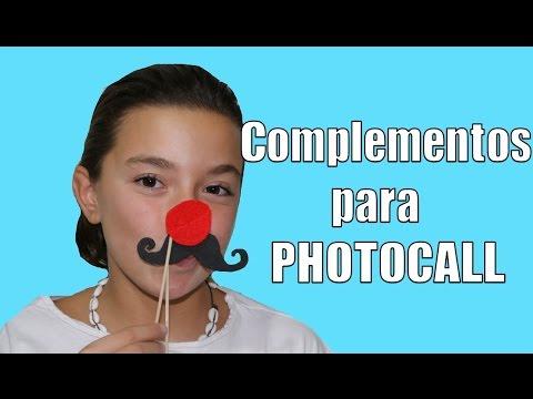 Complementos para photocall: bigotes, labios, corbata..