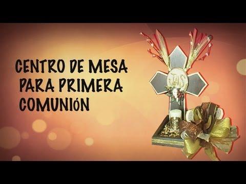 CENTRO DE MESA FACIL PARA PRIMERA COMUNION// MANUALIDADES DE VERO