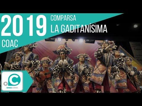 Sesión de Cuartos de final, la agrupación La gaditanissima actúa hoy en la modalidad de Comparsas.