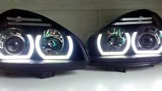 Фары для Приоры. Ангельские глазки для Приоры. Оптика Laser Lights для Lada Priora