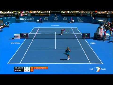 A. Dulgheru v P. Kvitova Highlights Women's Singles Second Round: Sydney International 2012