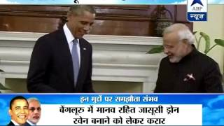 Obama in Hyderabad House: Modi-Obama to have one-on-one talks in Hyderabad house's lawn - ABPNEWSTV