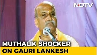 """Should PM React If Dog Dies?"": Pramod Muthalik On Gauri Lankesh Killing - NDTV"