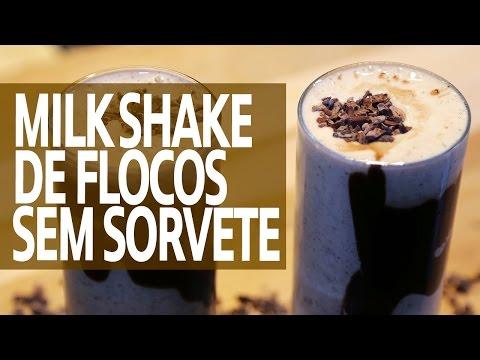 Milk Shake de Flocos Fit (Sem Sorvete) - Comer, Treinar e Amar