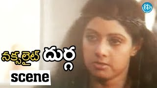 Naxalite Durga Movie Scenes - Durga Warns Villagers || Sridevi, Kader Khan - IDREAMMOVIES