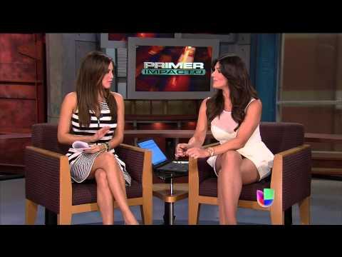 Pamela Silva Conde and Bárbara Bermudo 2013/04/02 Primer Impacto HD