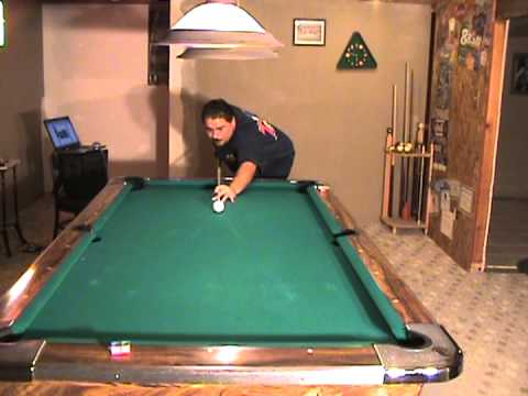 Billiards Lessons. How to delvelop Straight Stroke. End Rail and Back.