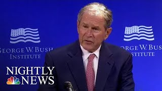 George W. Bush: U.S. Discourse Has Been 'Degraded By Casual Cruelty' | NBC Nightly News - NBCNEWS