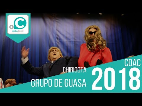 Sesión de Preliminares, la agrupación Grupo de Guasa actúa hoy en la modalidad de Chirigotas.