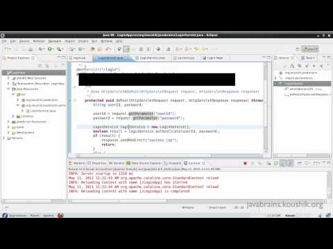 JSPs and Servlets Tutorial 16 Part 2- Writing an MVC Application