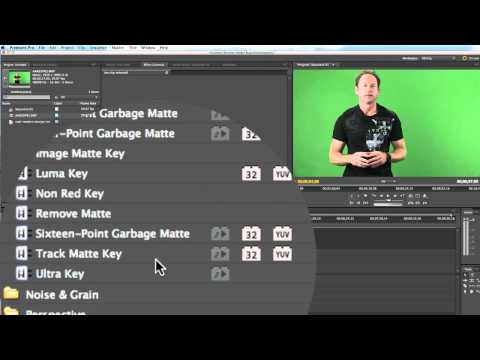 Adobe Premiere Pro CS 5.5 Green Screen Tutorial On Mac OSX Lion