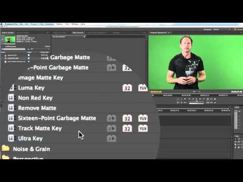 Adobe Premiere Pro CS 5.5 Green Screen Tutorial On Mac OSX Lion