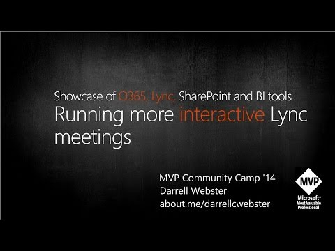 Runnnig Interactive Lync Meetings - MVP Community Camp 2014
