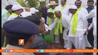 CM KCR Launches 4th Phase Of Haritha Haram In Gajwel | Siddipet | News - INEWS