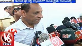 Governor Narasimhan inaugurated People Tree Art Gallery expo - Hyderabad - V6NEWSTELUGU