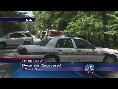 42 sticks of dynamite discovered in Virginia Beach