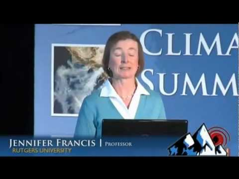 Climate Change and Extreme Weather: Prof. Jennifer Francis (2013) [video]