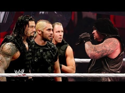 WWE RAW 5/6/13 The Shield And Undertaker Segment & The Shield Attack Kane Undertaker Save Kane