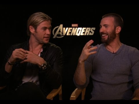 The Avengers - Interview with Chris Hemsworth and Chris Evans - YouTube