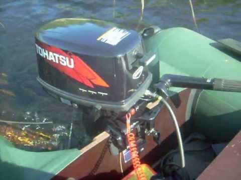 скорость лодки пвх с мотором тохатсу 9.8