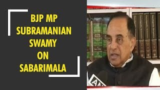 BJP MP Subramanian Swamy take on Sabarimala temple row - ZEENEWS
