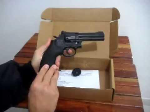 Revolver Smith & Wesson 586 4' 10 tiros 4,5mm co2 full-metal www.co2brasil.com.br