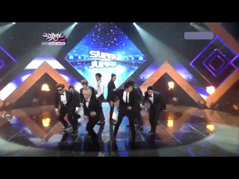 "Super Junior  "" RETURN OF THE SUPERIORS"" - Super Man Come Back Stage (Aug. 05 2011 -  Music Bank)"