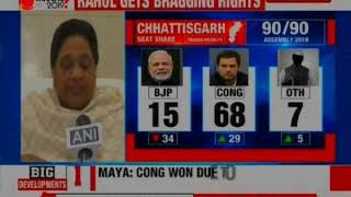 UP CM Mayawati Das will Support Congress In Madhya Pradesh To Keep BJP Out - NEWSXLIVE
