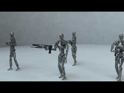 Terminator T-800 Model - walk test