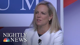Kirstjen Nielsen Won't Say 2016 Election Interference Favored President Trump | NBC Nightly News - NBCNEWS