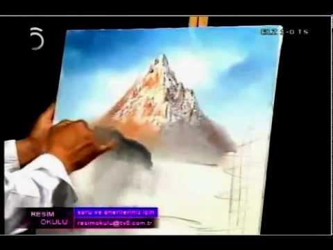 Yağlı Boya Resim - Dağ manzarası part-1