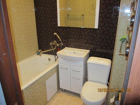 Ремонт в ванной комнате своими руками пластиком