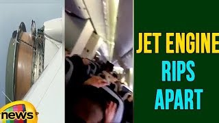 Visuals of Inside Passenger In Jet After Engine Covering Rips Apart | Mango News - MANGONEWS