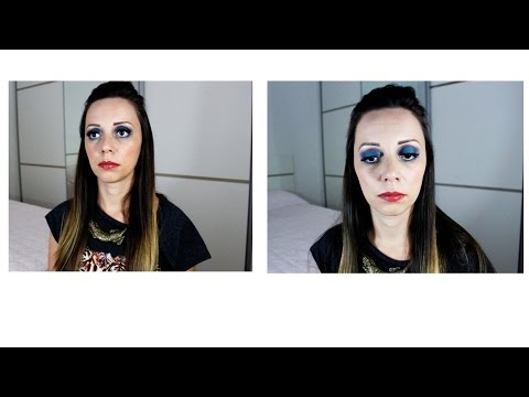 Tutorial: Maquiagem colorida (turquesa | azul | roxo)