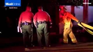 بيرس بروسنان ينجو من حريق في منزله.. بالفيديو
