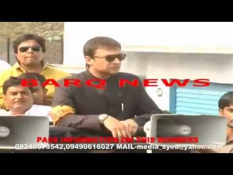 BARQ NEWS..ROAD SHOW OF AKBARUDDIN OWAISI AT CHANDRAENGUTTA ON 19TH APRIL 2014