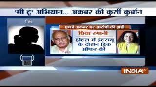सुनिये क्या बोलीं पीड़िता Suparna Sharma, MJ Akbar के इस्तीफे पर - INDIATV