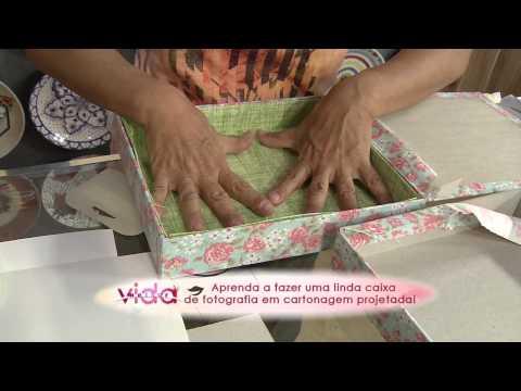 Aprenda a fazer uma linda caixa de fotografia cartonagem projetada!