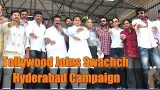 Tollywood Joins Swachch Hyderabad Campaign - IGTELUGU