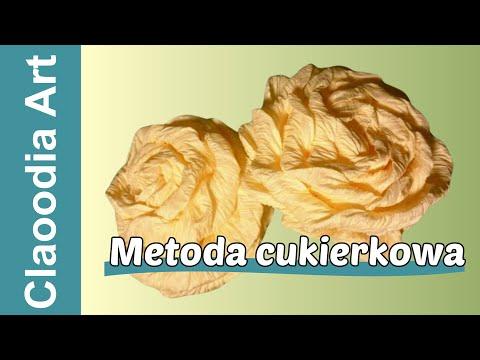 Jak zrobić różę z krepiny (metoda cukierkowa) [crepe paper rose] (Claoodia Art)