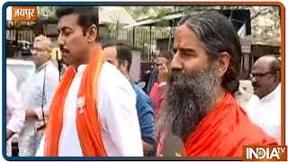Rajyavardhan Singh Rathore does Pranayam before filing his nomination from Jaipur - INDIATV