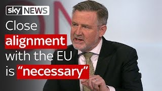 "Barry Gardiner: Close alignment with the EU is ""necessary"" - SKYNEWS"