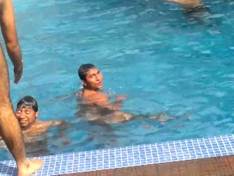 hadsa in swimming pool
